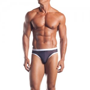 Excite Extreme Contrast Mesh Thong Underwear Black/White EE09