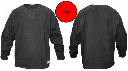 Akadema Fleece Long Sleeved T Shirt Red SBPSW