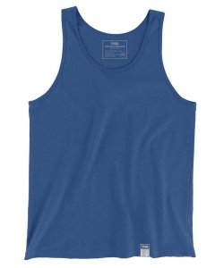 The Well Branded 100% Soft Airlume Cotton Classix Tank Top T Shirt Classic Blue