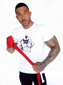 Bullywear Radio Man Short Sleeved T Shirt White S-ST01CREW