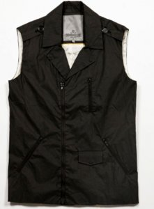Sopopular Phil Racer Vest Jacket Black 419-11-14