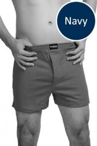 Nukleus Heart Collection The Caring Heart Loose Boxer Shorts Underwear Navy N-UE-07