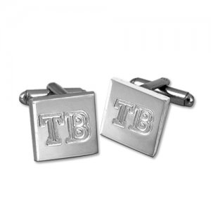 Personalized Men's Jewelry Personalized Initials Silver Cufflinks 101-17-258-04