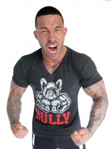 Bullywear Bully V Neck Short Sleeved T Shirt Black SST5-VN