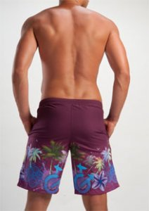 Geronimo Boardshorts Beachwear Bordeaux 1201P4
