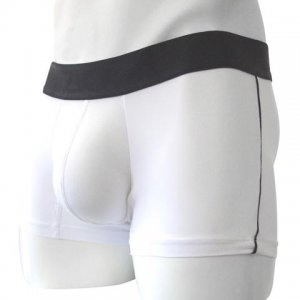 Inizio Villa Side Stripe Microfiber Short Boxer Brief Underw...