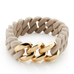 The Rubz Natural Silicone 15mm Unisex Bracelet Desert Sand & Gold