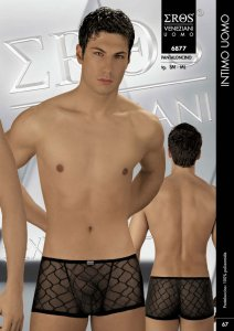 Eros Veneziani Sheer Lattice Boxer Brief Underwear 6877