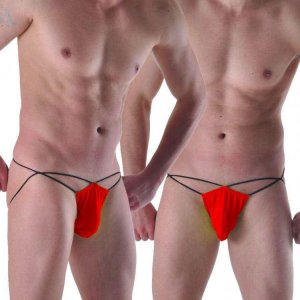 Don Moris Cut Out Thin Strap Jock Strap Underwear Red DM0120...
