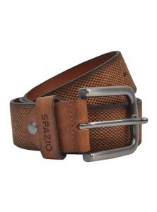 Spazio Gradient Textured Belt Tan 3568