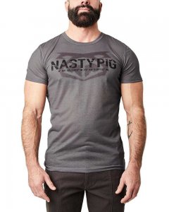 Nasty Pig Windshear Snout Short Sleeved T Shirt Grey 1423
