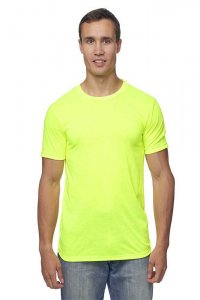 Royal Apparel Unisex Performance Poly Short Sleeved T Shirt Safety Yellow 26550PWA