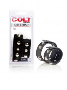 Colt Leather Domed Ball Strap C Ring Underwear Accessory