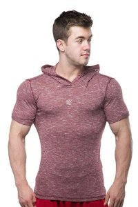 Jed North Pullover Short Sleeved Hoodie Sweater Red