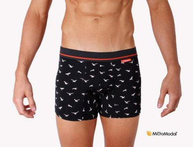 Mosmann Livingston Boxer Brief Underwear Black/White/Red LU2540