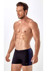 New Beach Two Tone Square Cut Trunk Swimwear Black/Dark Blue