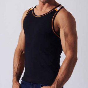 Code 22 Razor Back Tank Top T Shirt Black 09154