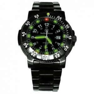 Smith & Wesson Tritium Commander Watch Black SWW-357-BSS