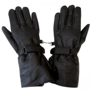 Hawg Hides Leather Motorcycle Gauntlet Gloves Black HH-139