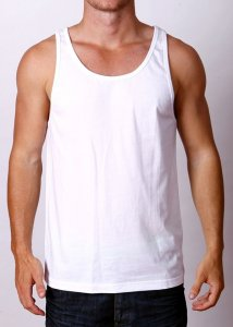 By The People Premium Basic Tank Top T Shirt White