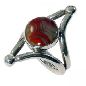 Metro Mod Man Kentucky Agate Red/White Band US 13 UK Z 1/2 R...