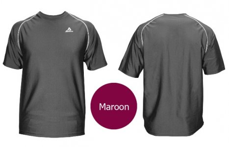 Akadema Performance Tee Short Sleeved T Shirt Maroon SPWRT