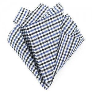 Ulterior Motive Gingham Blues V2 Handkerchief Blue/Black/Whi...