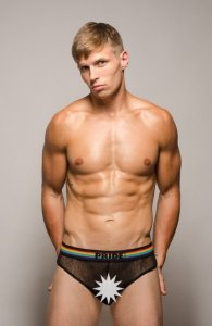 Pride Barcelona Mesh Brief Underwear Black PRU-058