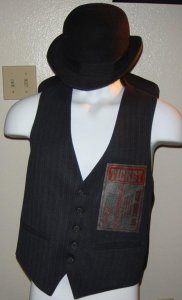 Tumbler & Tipsy CIRCUS TICKET Mens Vintage Vest