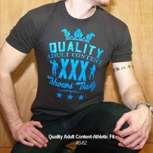 Ajaxx63 Athletic Fit Quality Adult Content Short Sleeved T Shirt Black AS82