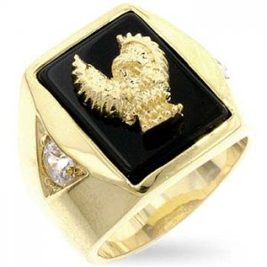 J Goodin Statuette Eagle Men's Ring R07024G-C03