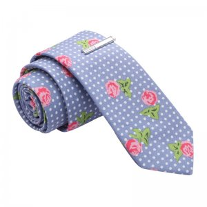 Skinny Tie Madness Battle of the Roses Polka Dot Skinny Tie ...