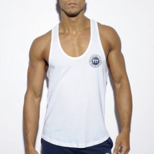 ES Collection Naver Back Down Tank Top T Shirt White TS171