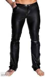 Noir Handmade Side Strap Pants Black H032