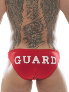 Good Boy Gone Bad Guard Bikini Swimwear Red
