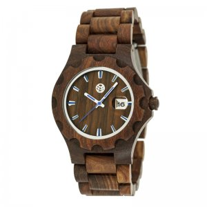 Earth Wood Gila Bracelet Watch w/Magnified Date - Red ETHEW3303