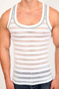 Pistol Pete Avalon Tank Top T Shirt White TK101-606