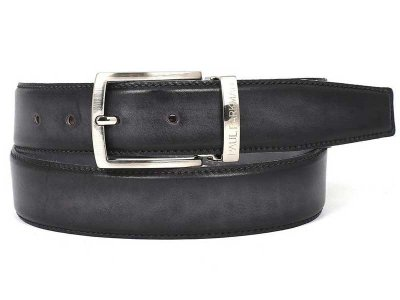 Paul Parkman Two Tone Hand Painted Leather Belt Grey & Black...