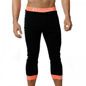 Gigo BLACK/ORANGE Jogger Shorts G19045