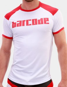 Barcode Berlin Grisha Short Sleeved T Shirt White/Red 91681-201