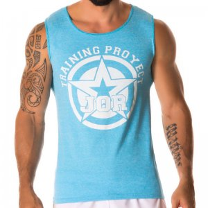 Jor TRAINING Sportswear Tank Top T Shirt BLUE 0225