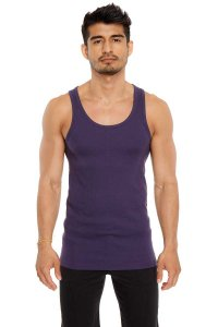 4-rth Sustain Tank Top T Shirt Eggplant
