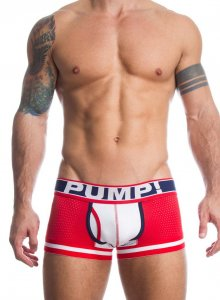 Pump! Touchdown Fever Boxer Brief Underwear Red/White 11033
