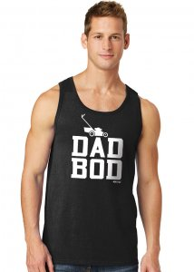 Ajaxx63 Dad Bod Tank Top T Shirt Black TK48