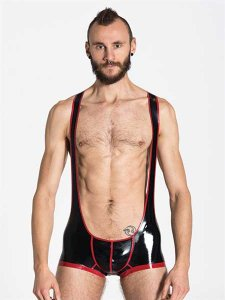 Mister B Rubber Backless Wrestling Bodysuit 320600