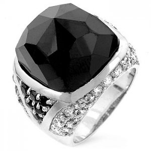 J. Goodin Faceted Onyx Cocktail Ring R07391RS-C95