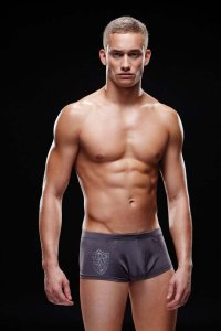 Envy Logo Sport Boxer Brief Underwear Gunmetal E028