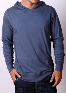 By The People Lightweight Hoody Long Sleeved Sweater Charcoa...