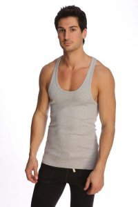 4-rth Racer Back Yoga Tank Top T Shirt Heather Grey