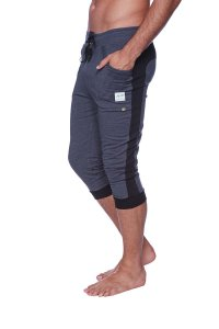 4-rth Cuffed Yoga 3/4 Pants Charcoal/Black